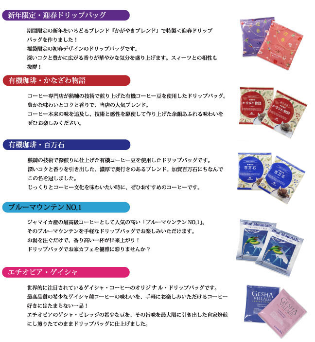 ドリップバッグ福袋の味の説明02