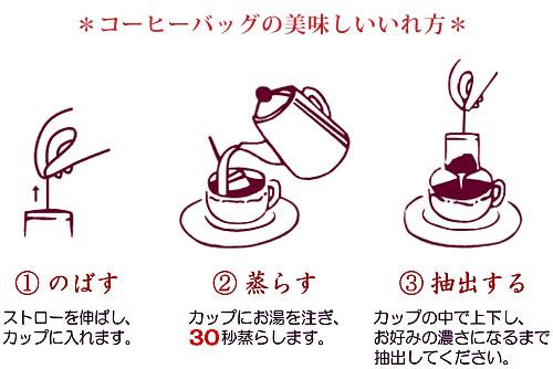 特許取得の製法でワンランク上の味わいをお届けするコーヒーバッグキャラバンブレンドは簡単ドリップ!
